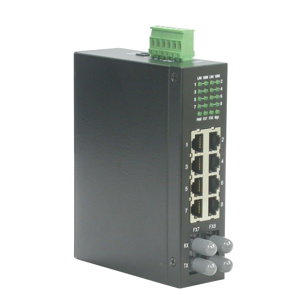 ROLINE Industrie Switch, 6x RJ-45, 2x ST, unmanaged