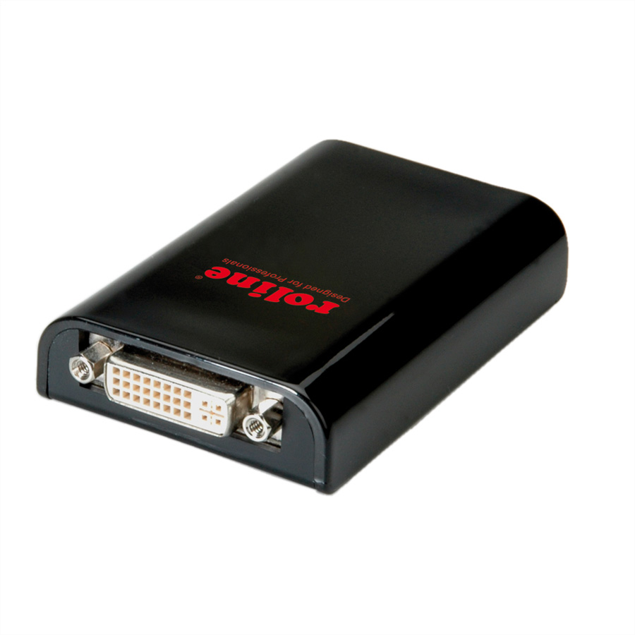 ROLINE USB 3.1 Gen 1 Display Adapter, DVI, schwarz