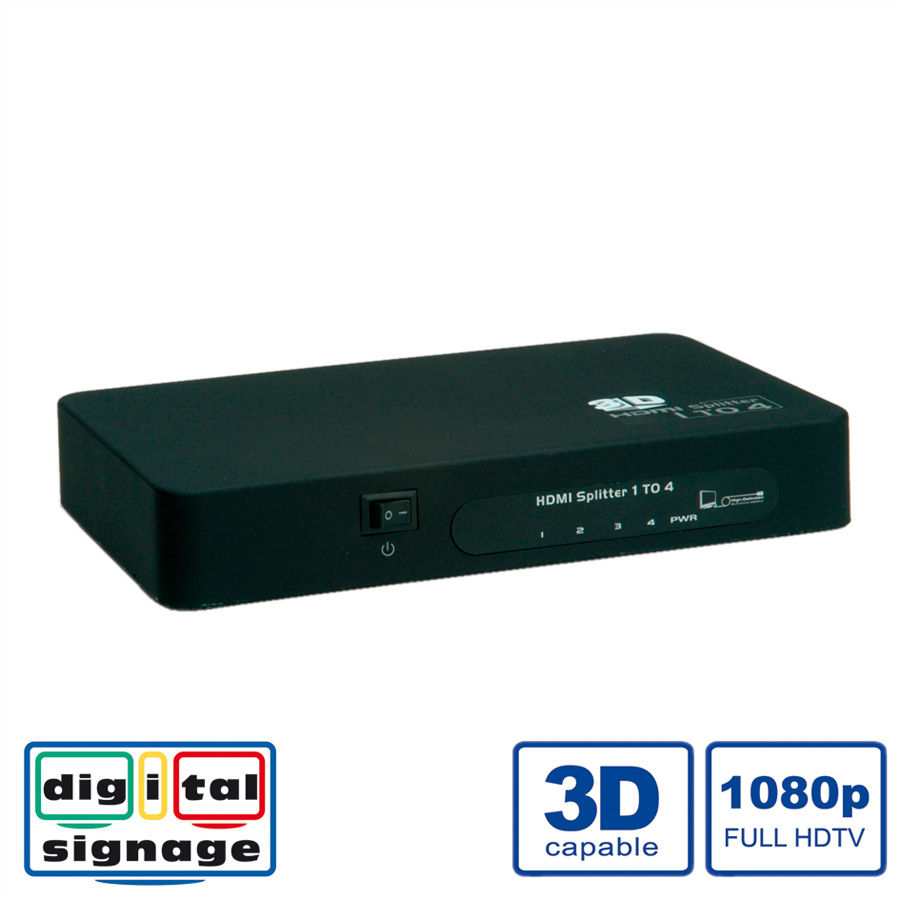 VALUE HDMI Video-Splitter, 4fach