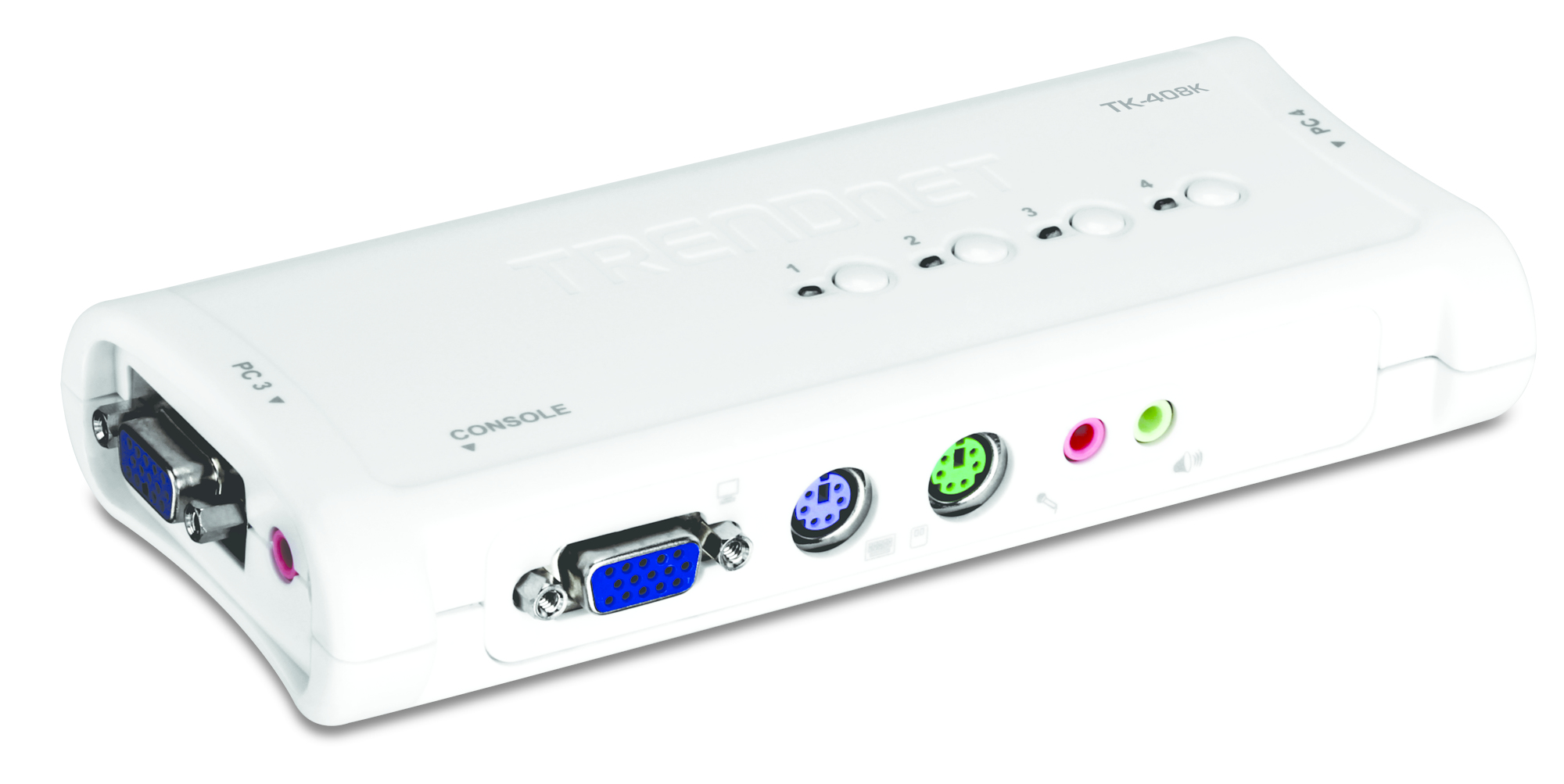 TRENDnet TK-408K KVM Switch 4-Port PS/2 Kit mit Audio