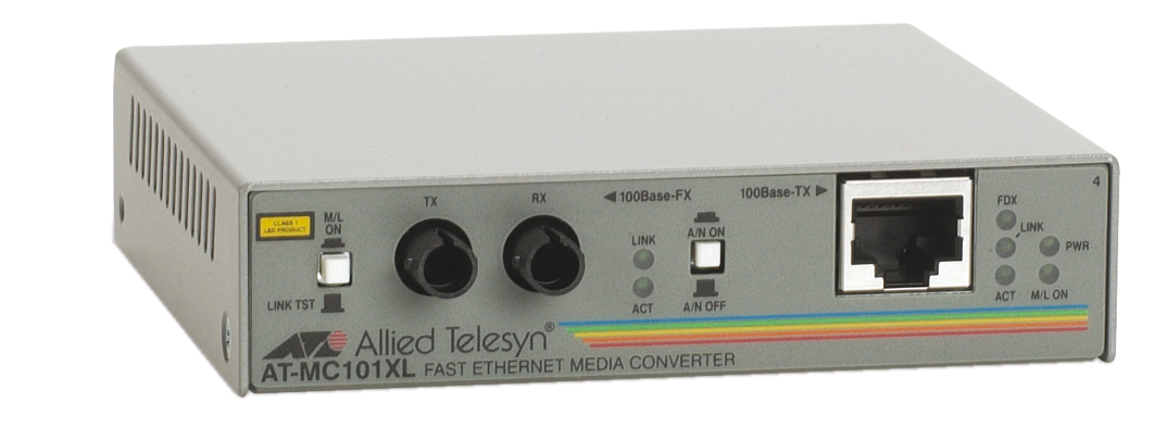 AT-MC101XL, RJ-45 auf 100Base-FX/ST