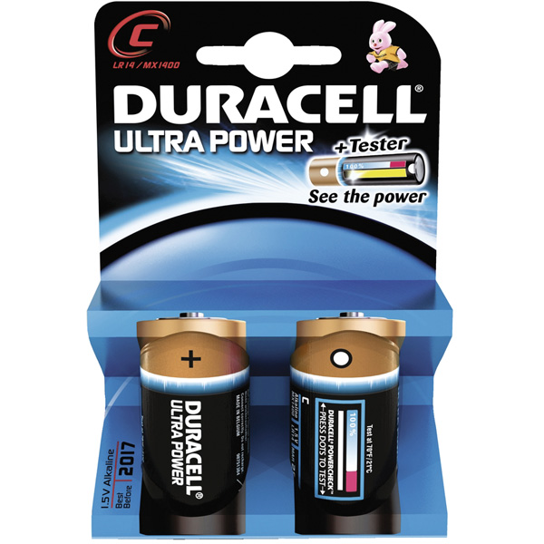 DURACELL Ultra Power, Typ C (LR14), 2er Pack