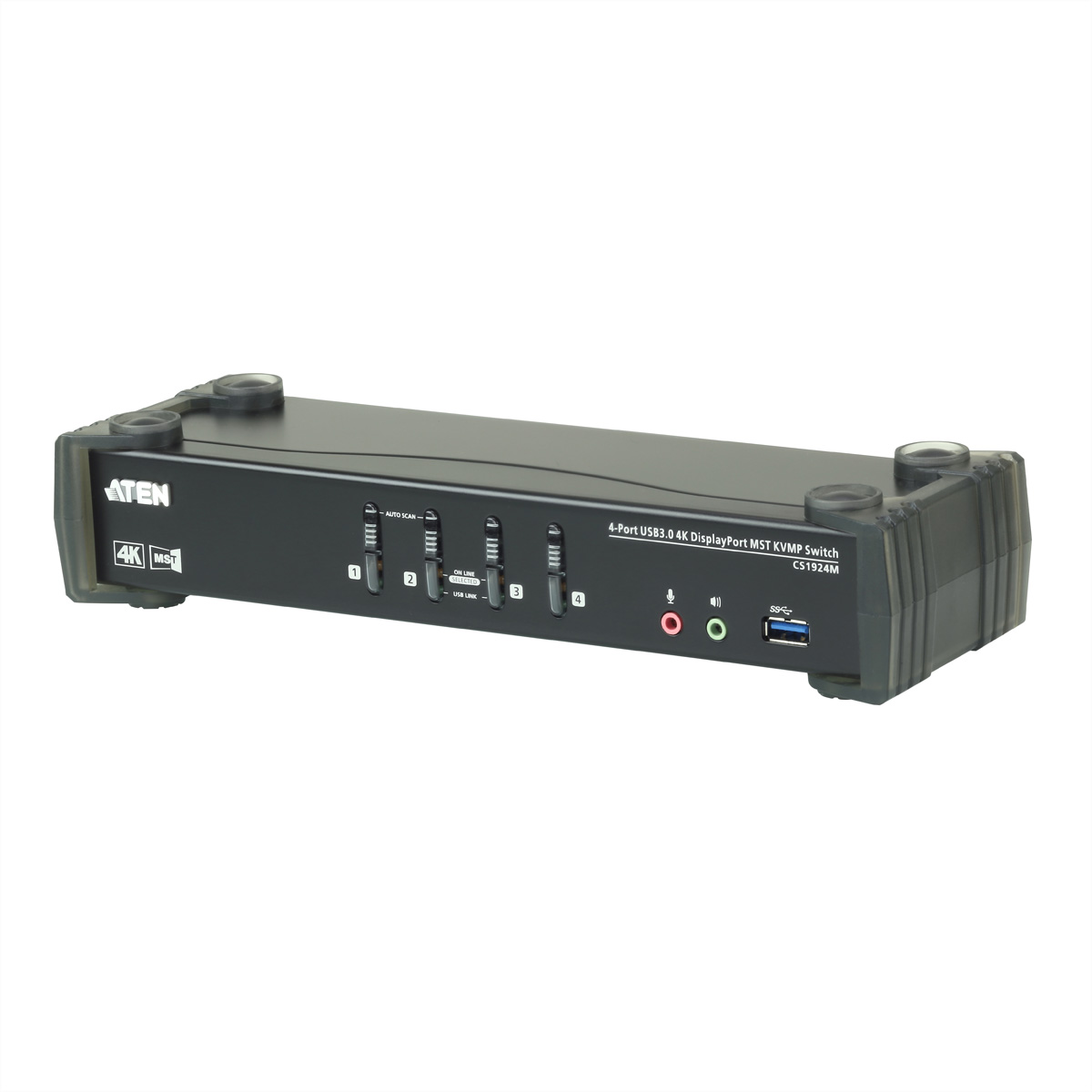 ATEN CS1924M 4-Port USB 3.0 4K DisplayPort MST KVM Switch