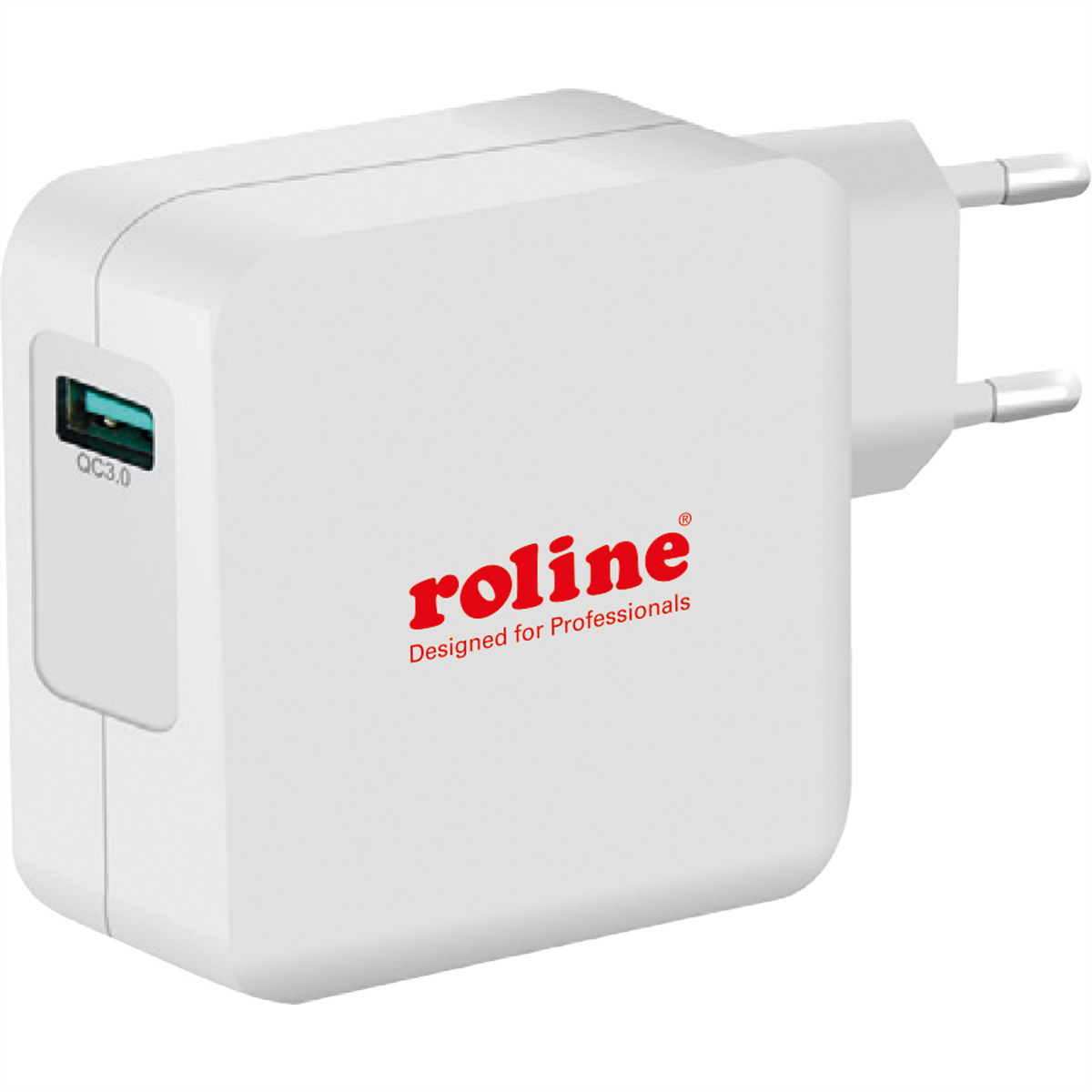 ROLINE USB Charger mit Euro-Stecker, 1 Port QC3.0, 24W