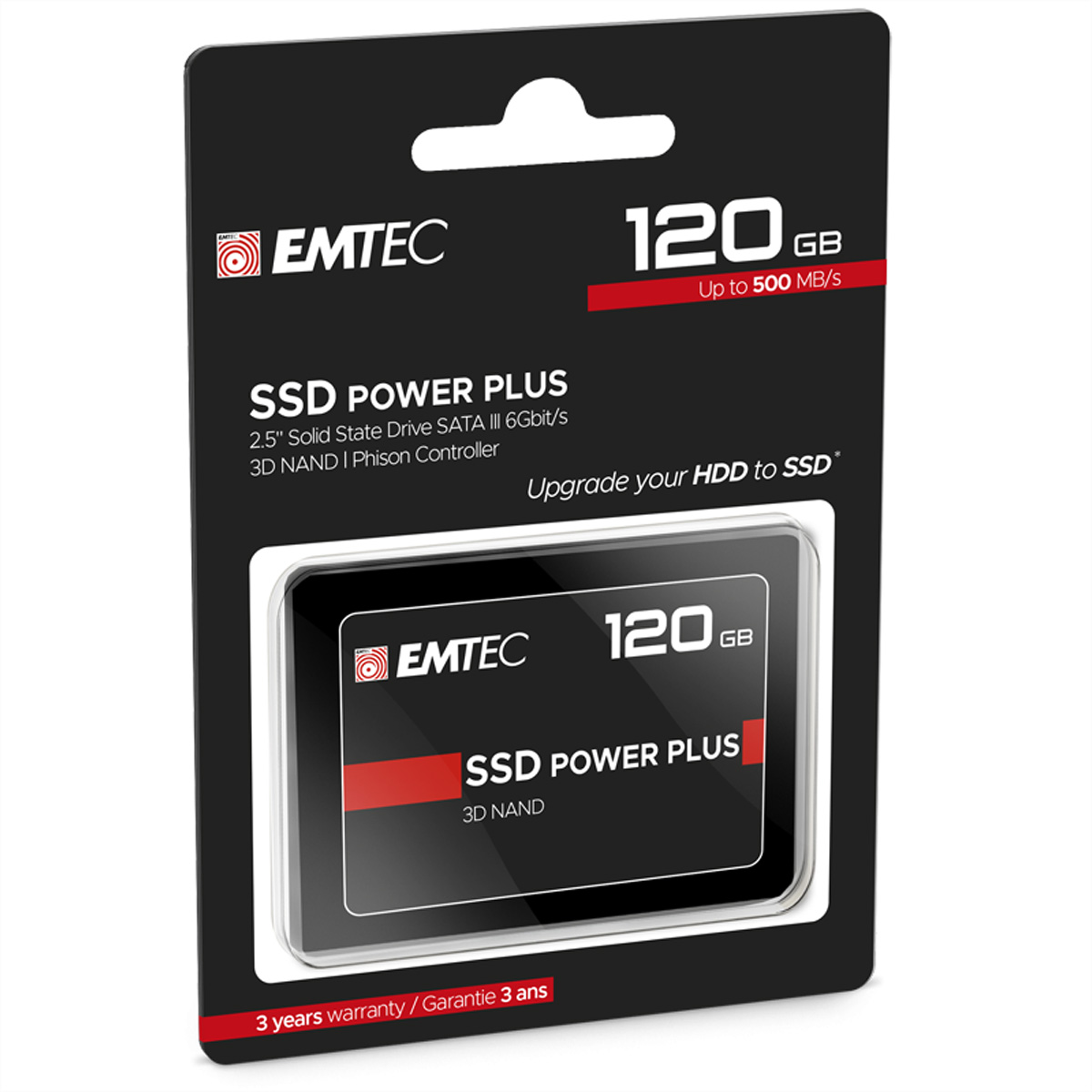 EMTEC SSD Intern X150 120GB, SSD Power Plus, 2.5 Zoll, SATA III 6GB/s