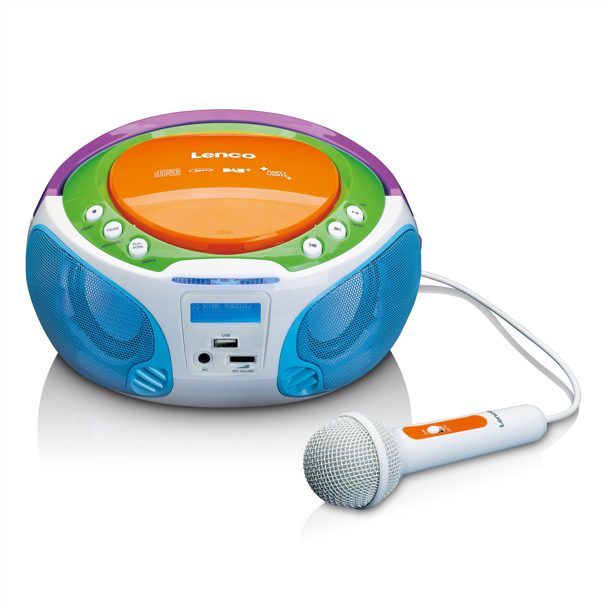 Lenco SCD-651 Kids portabler DAB+ Radio, FM, CD, MP3 & USB, LCD Display