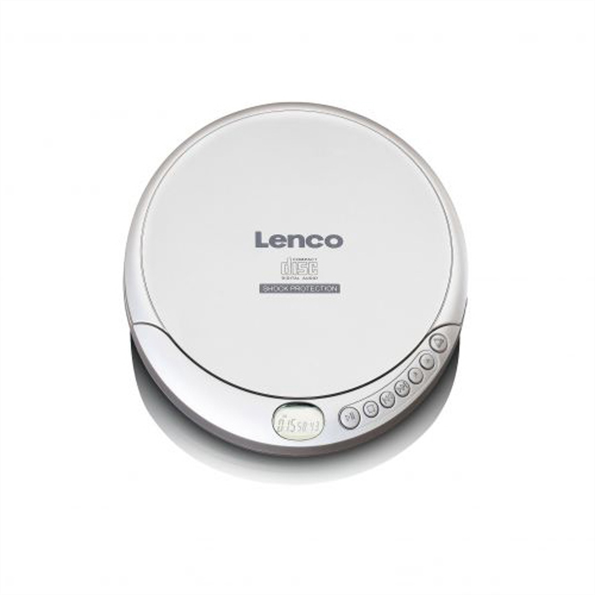 Lenco CD-201 portabler CD/MP3 Player silber