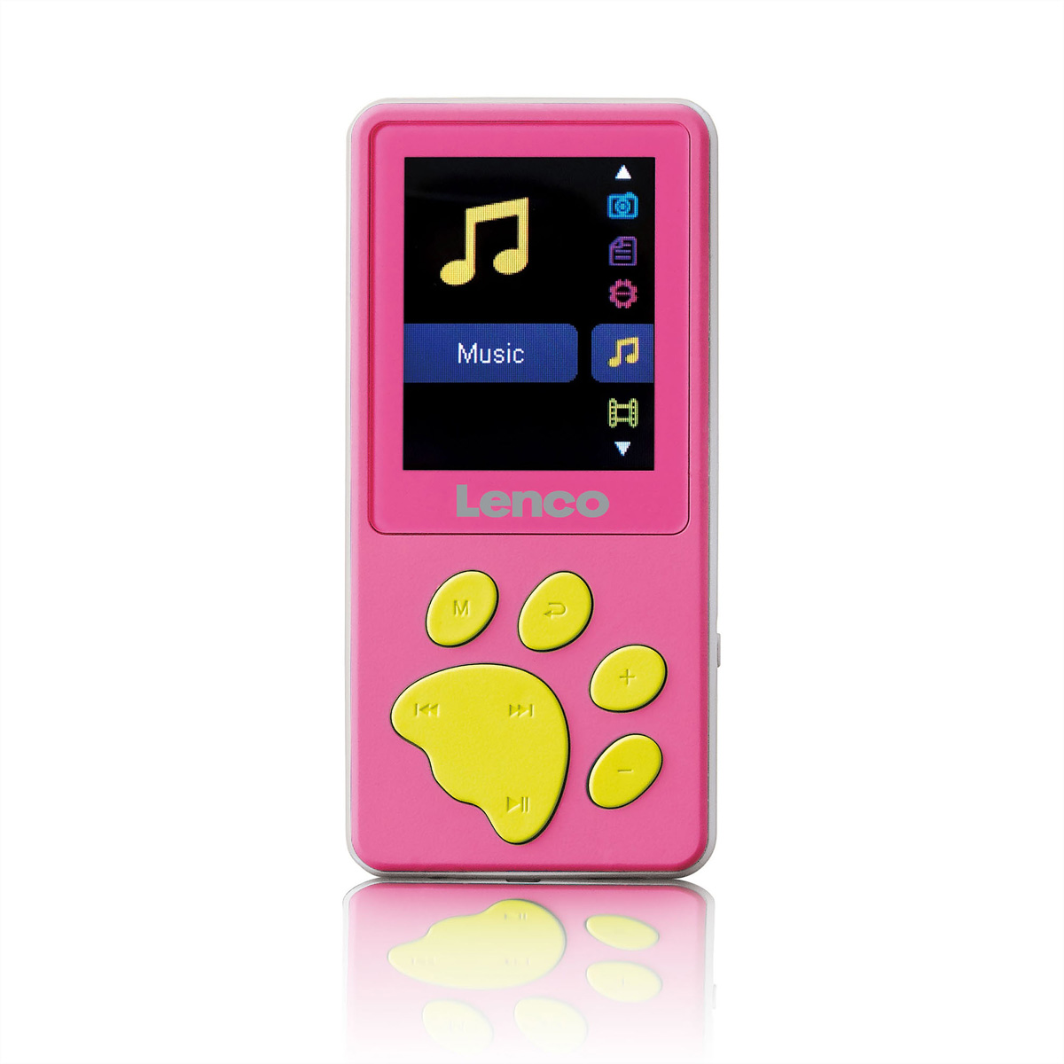 Lenco XEMIO-560 Kids MP4 Player, pink, SD Slot, Kopfhörer