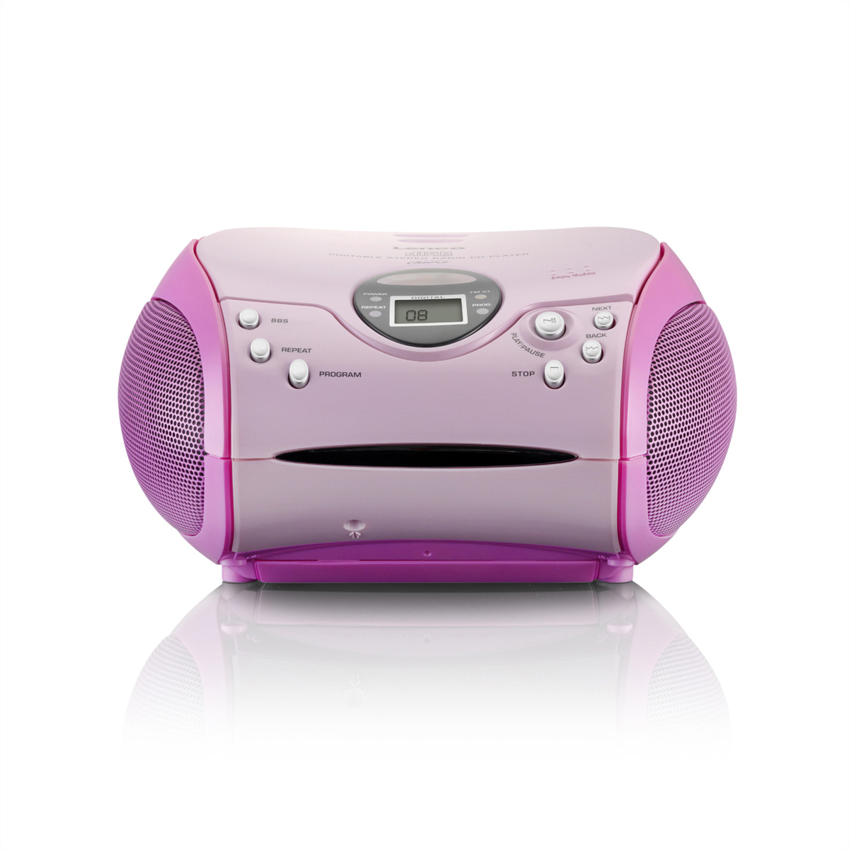 Lenco SCD-24 pink Stereo UKW radio mit CD-Player